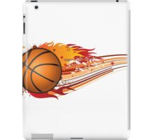 Basketball in fire iPad Case/Skin