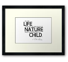 rejoice like a child - marie curie Framed Print