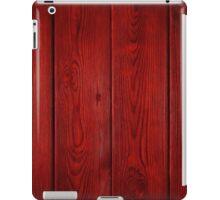 red plank floor iPad Case/Skin