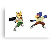 Fox and Falco StarFox Melee Design Canvas Print