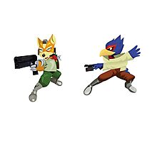 Fox and Falco StarFox Melee Design Photographic Print