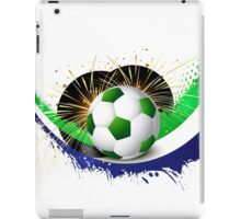 Beautiful brazil colors concept wave soccer ball iPad Case/Skin