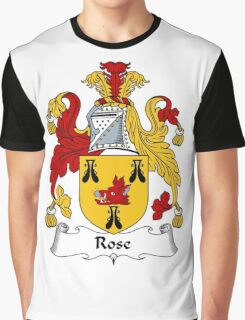 Rose Coat of Arms / Rose Family Crest Graphic T-Shirt