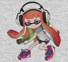 Splatoon Squid kid Nintendo Print One Piece - Long Sleeve