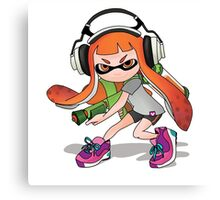 Splatoon Squid kid Nintendo Print Canvas Print