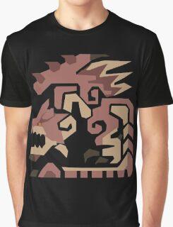 Rathion Pink Monster Hunter Print Graphic T-Shirt