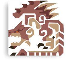 Rathion Pink Monster Hunter Print Canvas Print