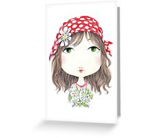 Gipsy Flowers Greeting Card