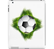 Abstract green grass colorful football design iPad Case/Skin