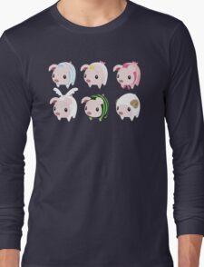 Poogie Piggie Monster Hunter Print all 6  Long Sleeve T-Shirt