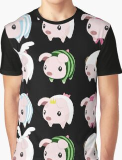 Poogie Piggie Monster Hunter Print all 6  Graphic T-Shirt