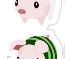 Poogie Piggie Monster Hunter Print all 6  Sticker