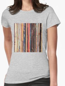Vinyl Records Indie Rock  Womens Fitted T-Shirt