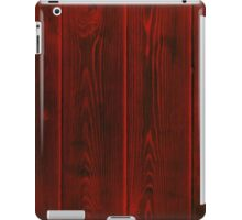 dark red rustic floor planks iPad Case/Skin