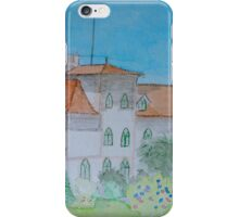 Watercolour View of a Portuguese House iPhone Case/Skin