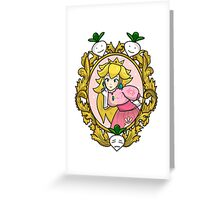 Princess Peach Melee Taunt Design Greeting Card