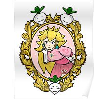 Princess Peach Melee Taunt Design Poster