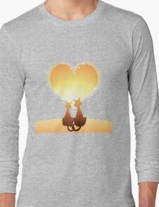 Cat love valentine Long Sleeve T-Shirt