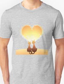 Cat love valentine T-Shirt