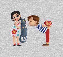 Valentine kiss cat Unisex T-Shirt