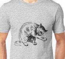 Cat washing itself clip art Unisex T-Shirt