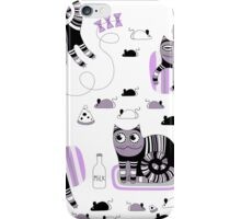 Funny floral pattern cats iPhone Case/Skin