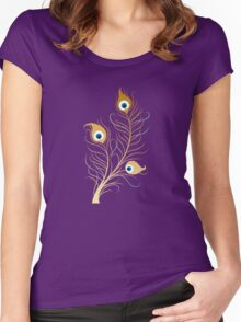 Peacock feather Women's Fitted Scoop T-Shirt
