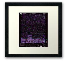 USGS TOPO Map Alabama AL Oakville 304713 2000 24000 Inverted Framed Print