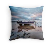 Beached At Port Carlisle Throw Pillow