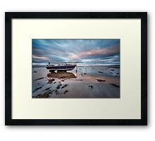 Beached At Port Carlisle Framed Print