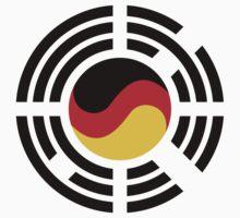 Korean German Multinational Patriot Flag Series One Piece - Long Sleeve