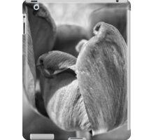 Black and White Spring Tulip iPad Case/Skin