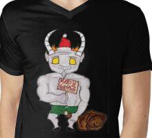 Merry Krampus Mens V-Neck T-Shirt
