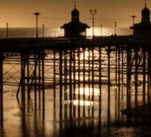 North Pier at Ebb Tide Sticker