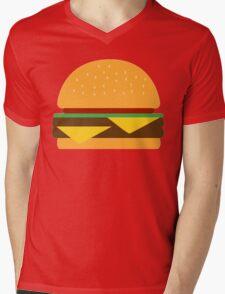 Burger Mens V-Neck T-Shirt