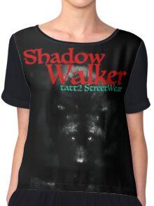 SHADOW WALKER Black Wolf Chiffon Top