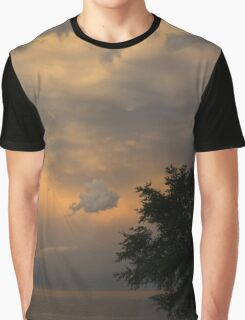 Summer Storm Aftermath - Phenomenal Sky Over the Lake Graphic T-Shirt