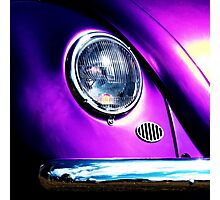 Purple Turtle ~ VW Beetle Image Photographic Print