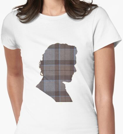 Fraser Tartan Silhouette Womens Fitted T-Shirt