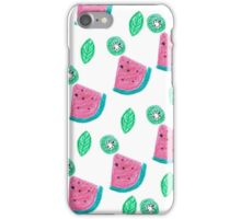 Watermelon and kiwi pattern iPhone Case/Skin