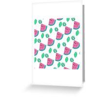 Watermelon and kiwi pattern Greeting Card
