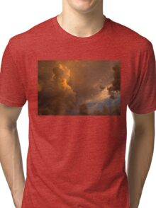 Storm Clouds Sunset - Dramatic Oranges Tri-blend T-Shirt