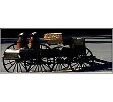 Milk Wagon in Winter Shadows Photographic Print