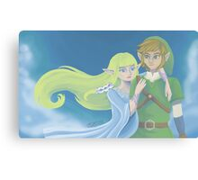 Link and Zelda ~ Skyward Sword Canvas Print