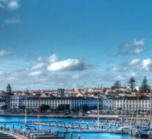 Harbour at Ponta Delgada, Azores Sticker