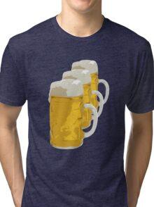3 mugs of beer Tri-blend T-Shirt