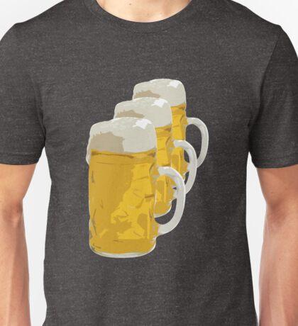 3 mugs of beer Unisex T-Shirt