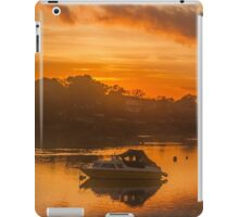 Sunset over Tranquil River and Bank iPad Case/Skin