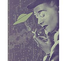 The Cigarette Smoking Woman Photographic Print