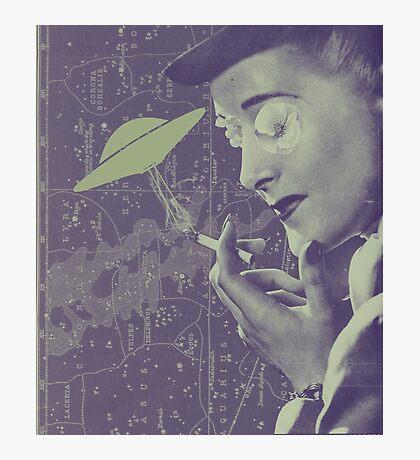 The Cigarette Smoking Woman Photographic Print